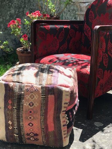 Moroccan berbére cushion/Ottoman