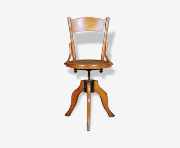 chaise bureau atelier indus vis tournant ann e 30 style bistro am ricain bois mat riau. Black Bedroom Furniture Sets. Home Design Ideas