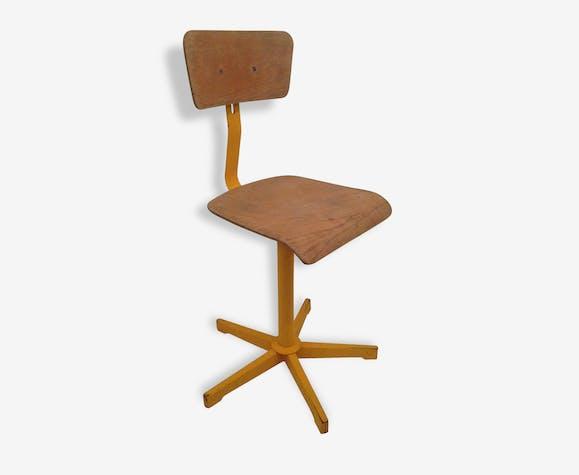 Chaise Vintage Bureau Industriel Design Retro Loft Atelier