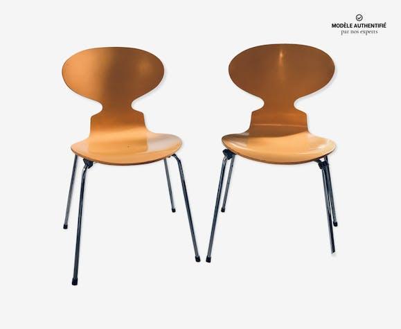 Hansen Arne Jacobsen Deux Pour Par Fritz Lot Chaises De Fourmi XikPZu
