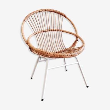 Rattan basket chair