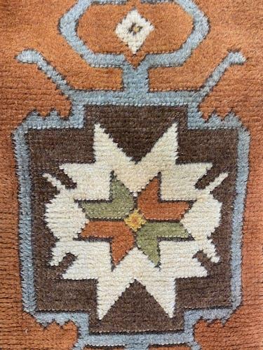 Paire de tapis Kazar Turque pur laine 49cm X105cm