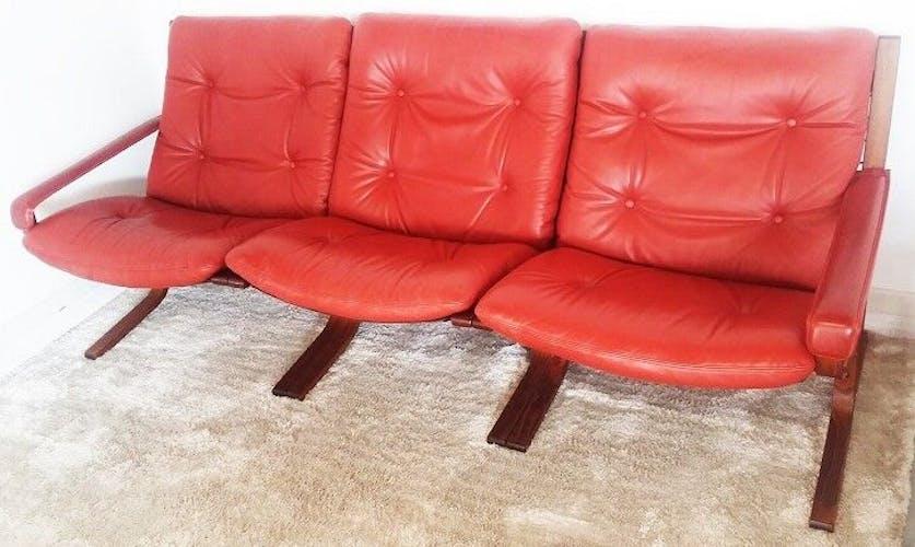Sofa bench Scandinavian leather Ingmar Relling Siesta