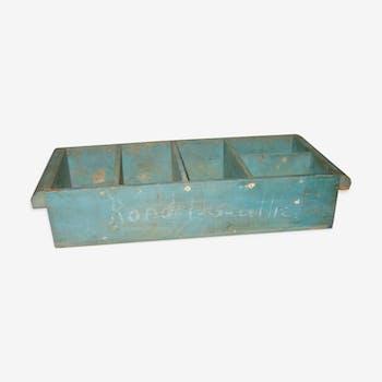 Caisse tiroir bleu