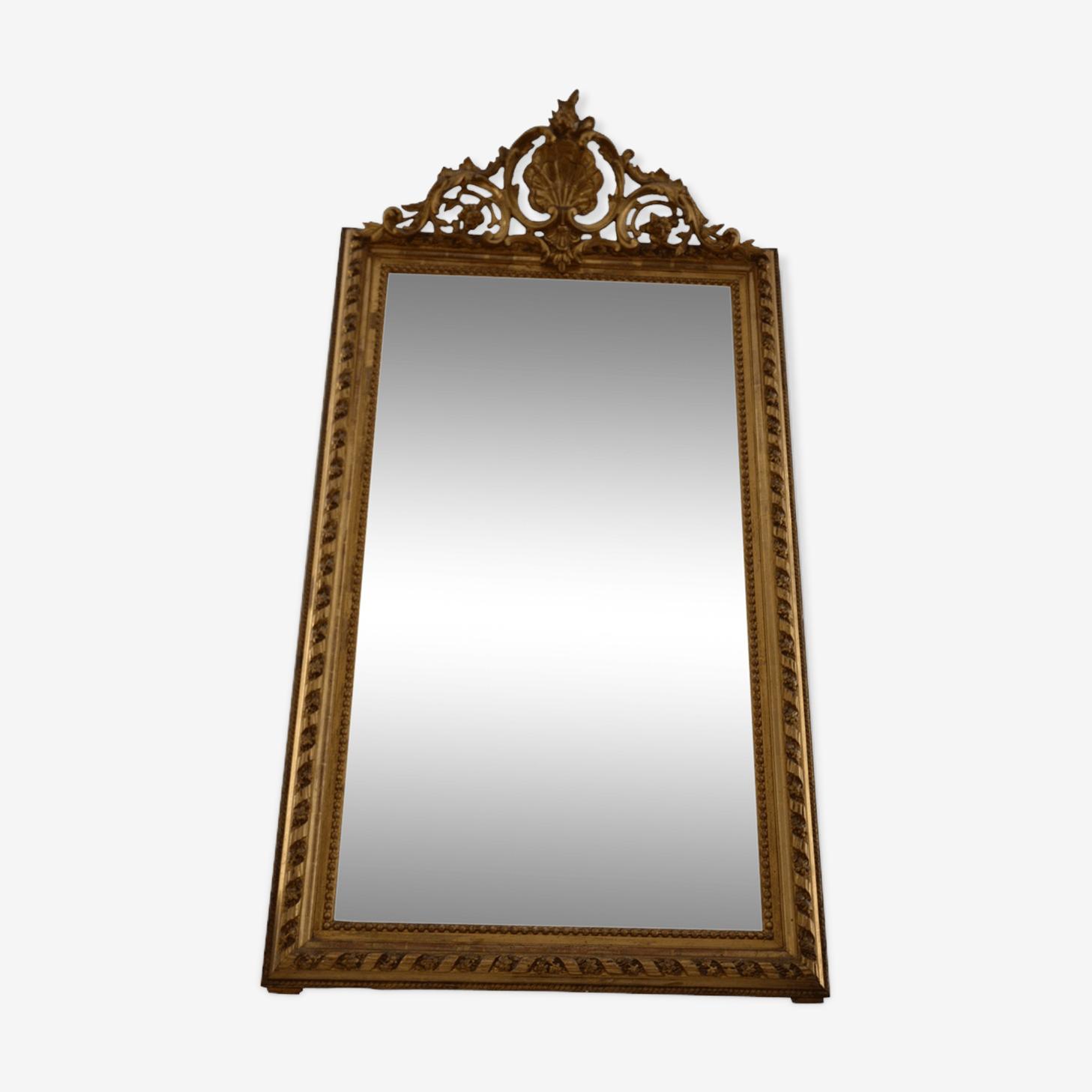 Golden mirror style Louis XV 150x85cm