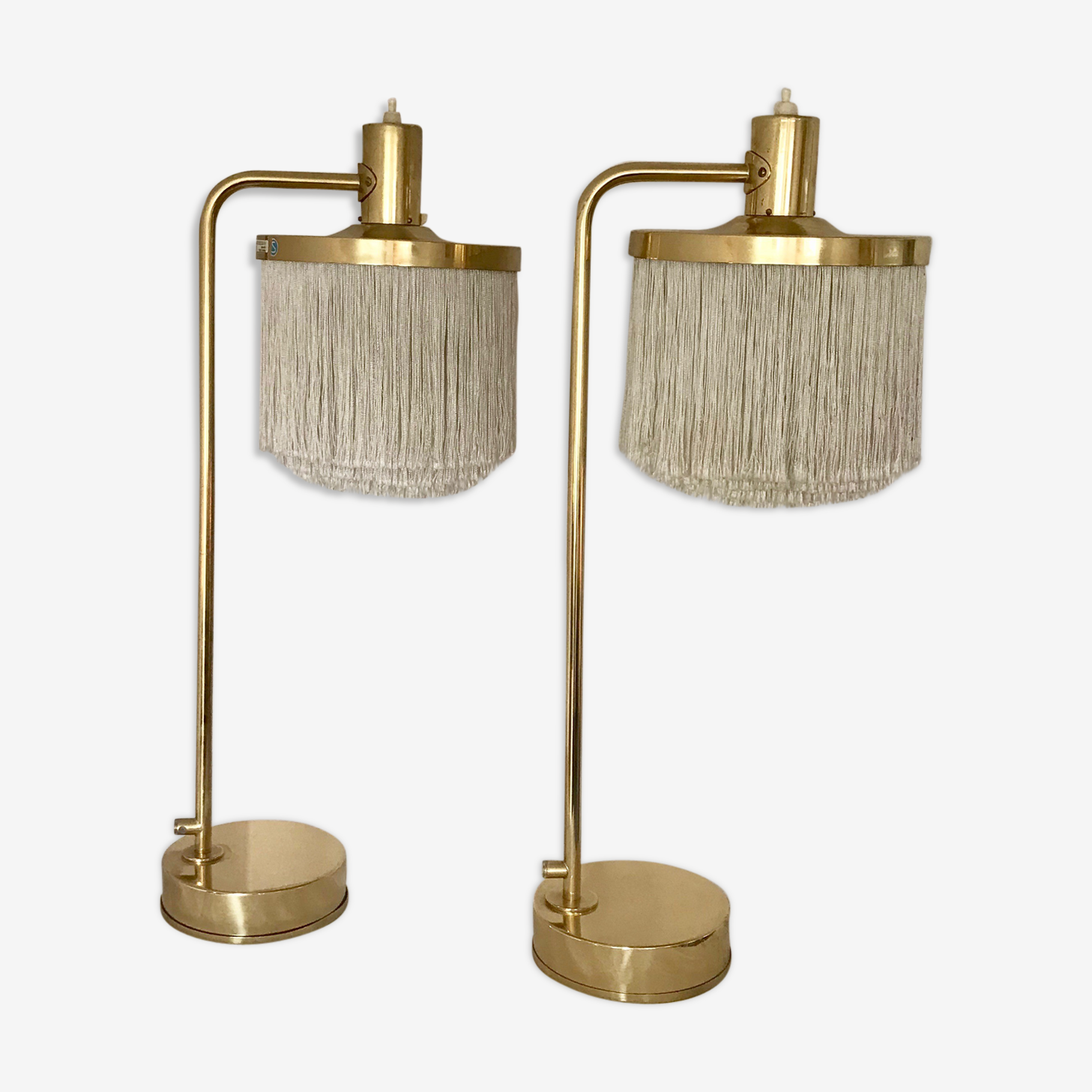 Hans-Agne Jakobsson Vintage Pair of B-140 Brass Table Lamps