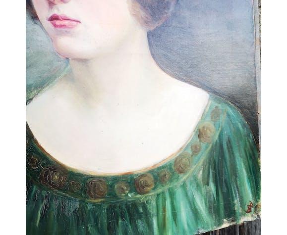 Portrait garçonne, huile dur toile, 1912.