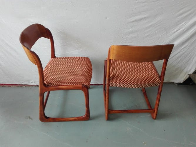 Suite de 6 chaises Baumann modèle traîneau