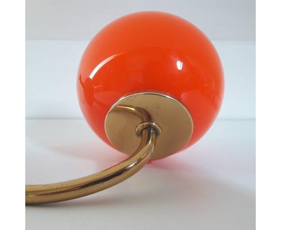 Pair of orange opaline wall light