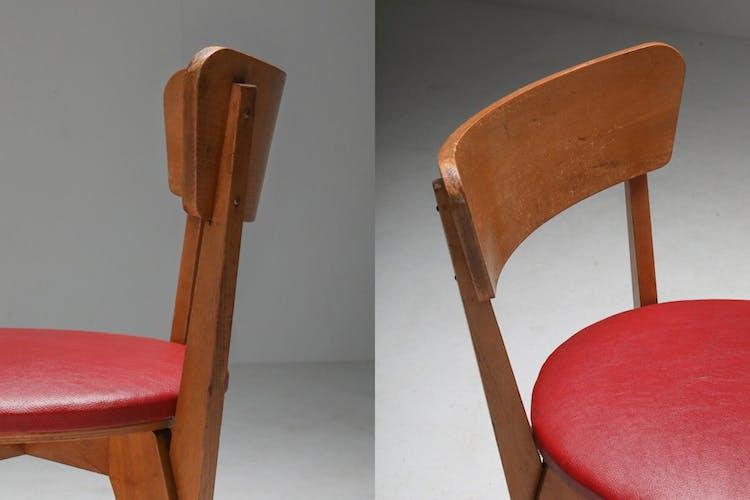 Paire de chaises modernistes néerlandaises de Wim den Boon - 1947
