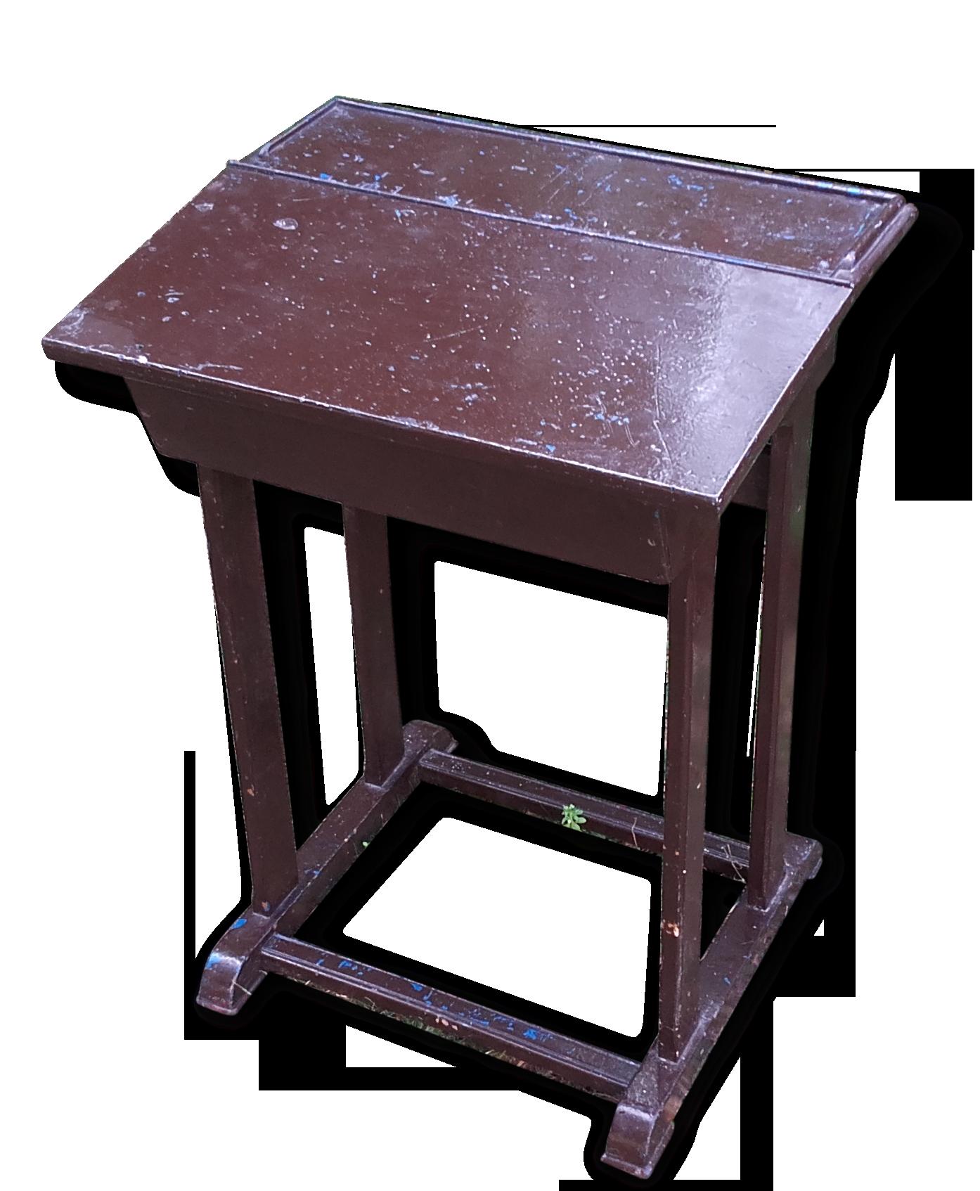 Bureau pupitre bois peint bois matériau marron vintage