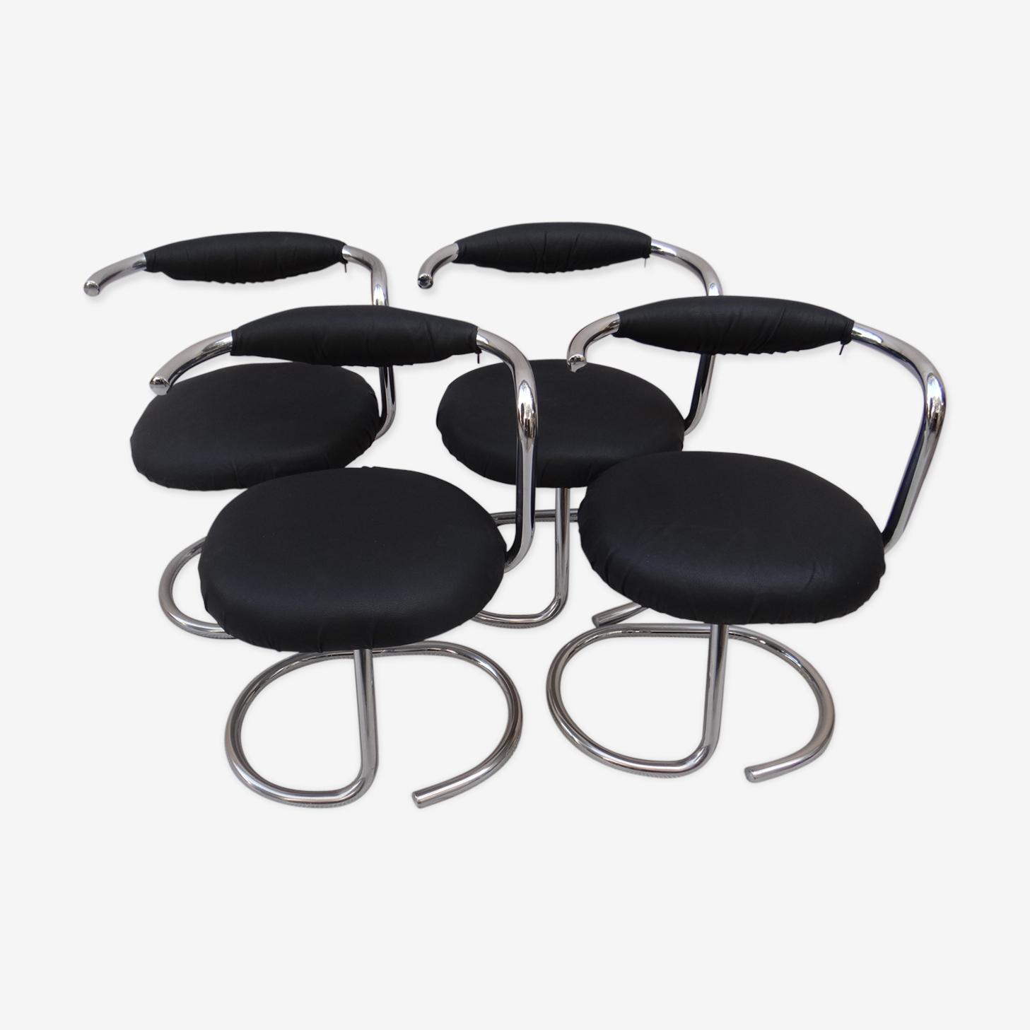 4 chaises Giorgo Stoppino 1970