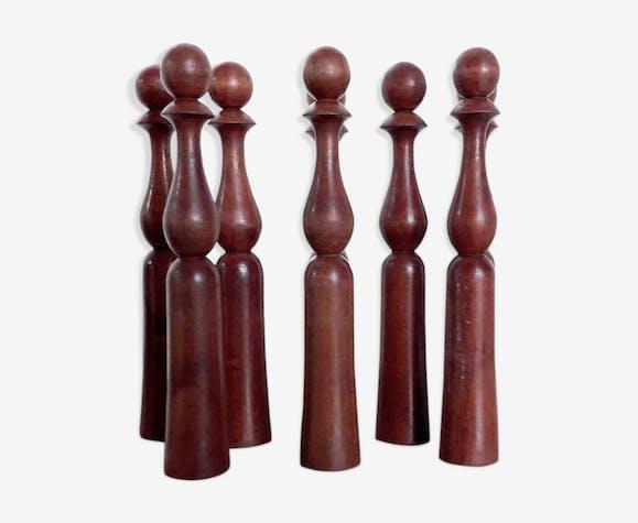 Quilles anciennes de table fin XIX