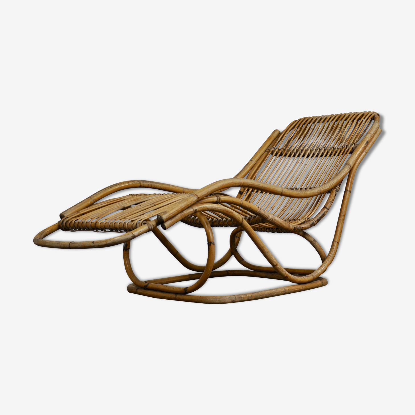 Lounge Chair rattan 1960 s