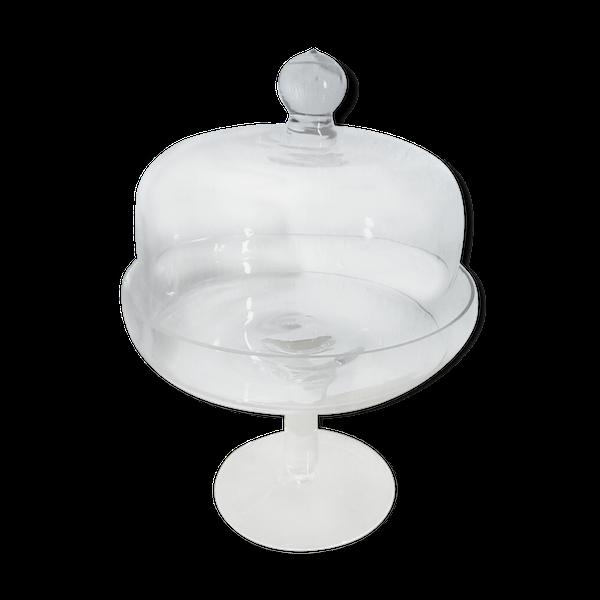 Ancienne cloche à gateau en verre