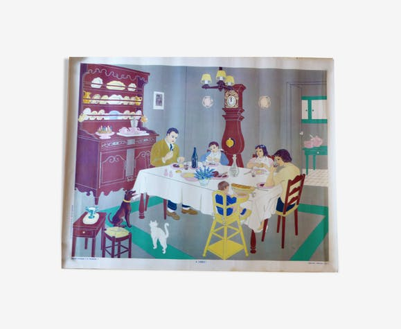 "Affiche Armand Colin n°3 ""a table"""