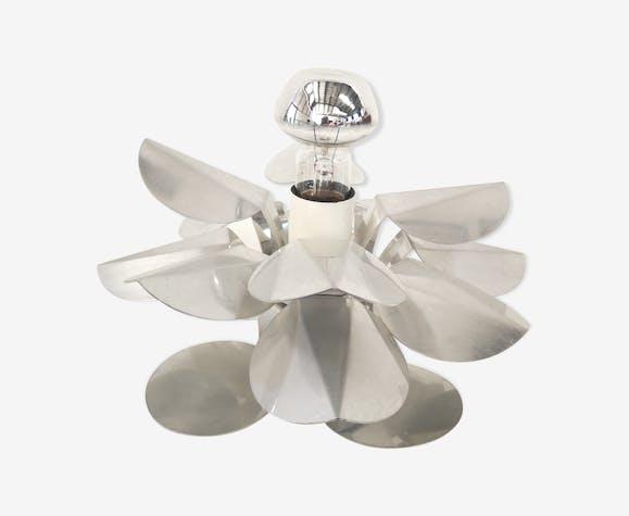 Lampe vintage fleur chromée