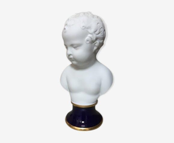 Buste enfant en porcelaine de Limoges