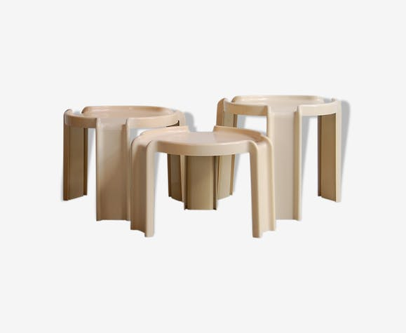 "Table gigognes ""4905"" by Giotto Stoppino for Kartell , 1970s"
