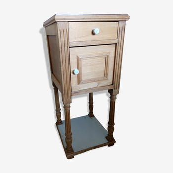 Nightstand in wood and marble, early 1900s, barely revisited