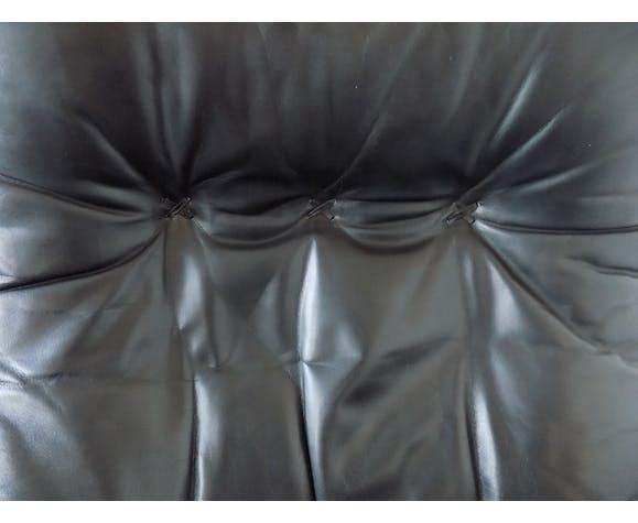 Fauteuil en cuir noir James Bond De Sede S231