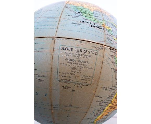 Globe terrestre Girard et Barrère