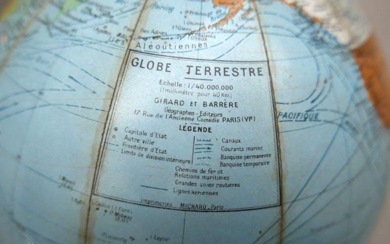 50s hardcover world globe