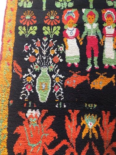 Tapis d'Europe de l'Est Deco en laine, vers 1940 - 160x103cm