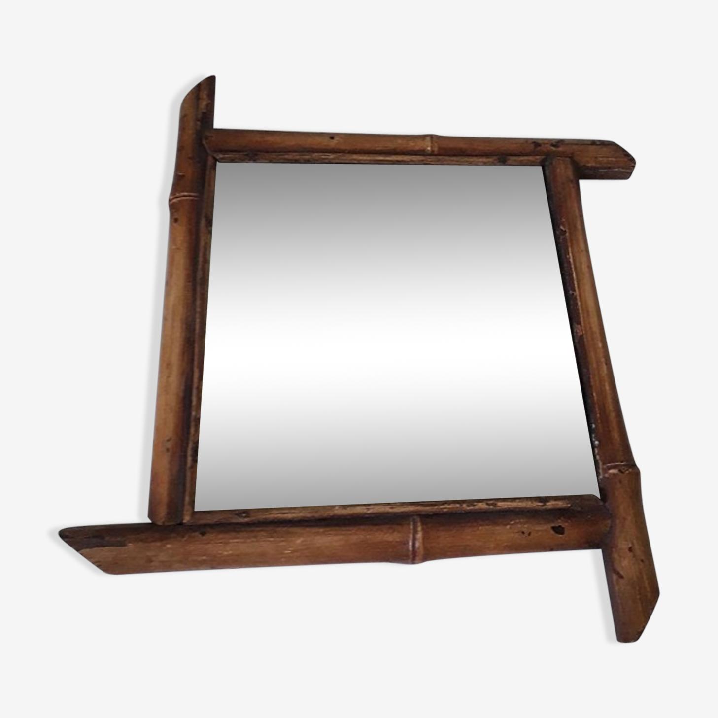 Miroir en bambou biseauté 30x30cm