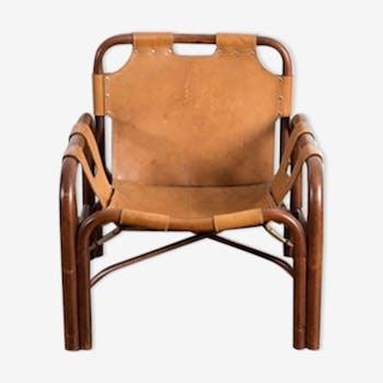 armchair bamboo bonacina - Mobilier Vintage
