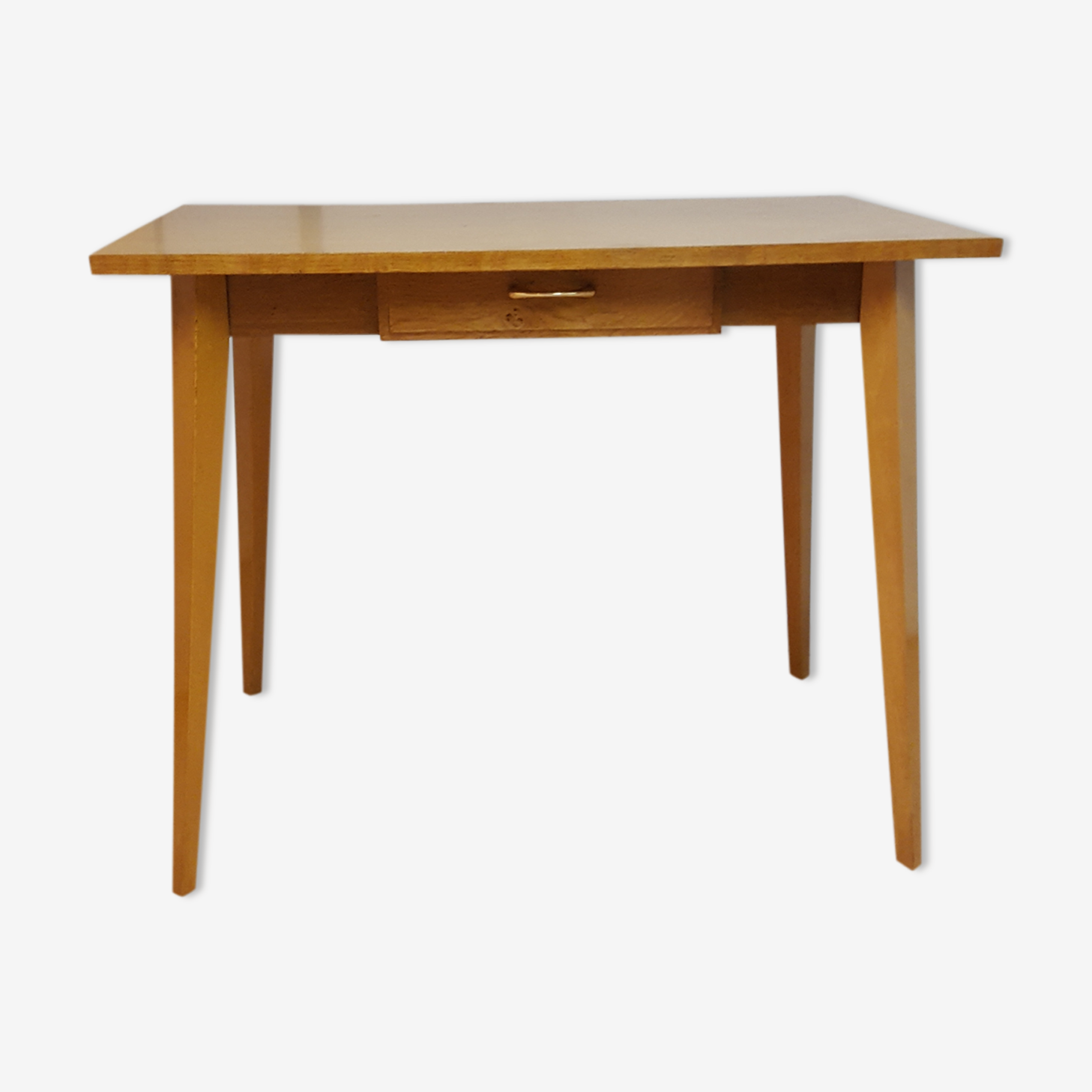 Table vintage en hêtre années 60
