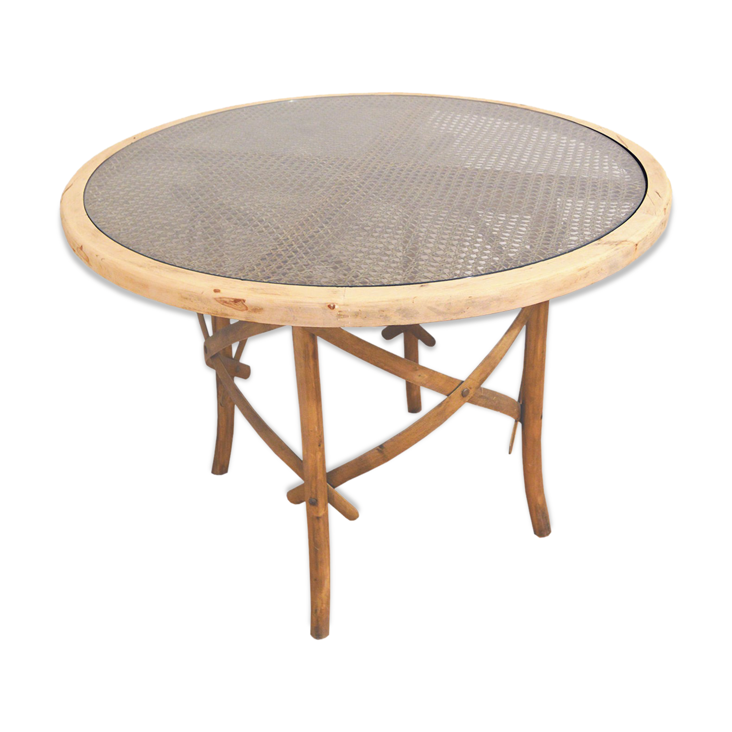 Table Ronde Bois U0026 Cannage