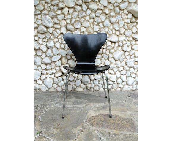 Chaise 3107 série papillon Arne Jacobsen pour Fritz Hansen, 1966