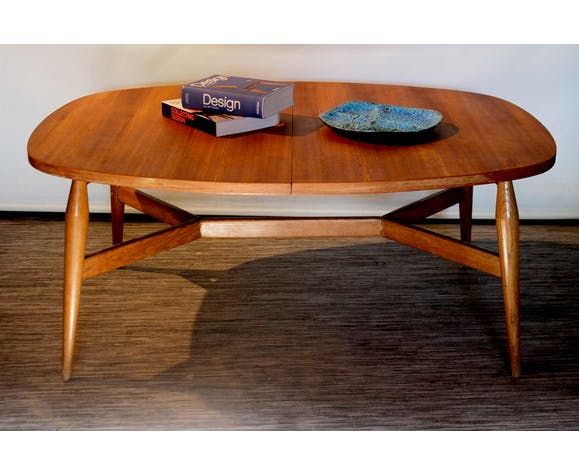 Table basse scandinave relevable Smørrebrød