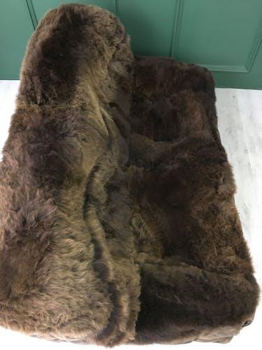 Canapé Kashima en cuir et mouton par M.Ducaroy pour Ligne Roset