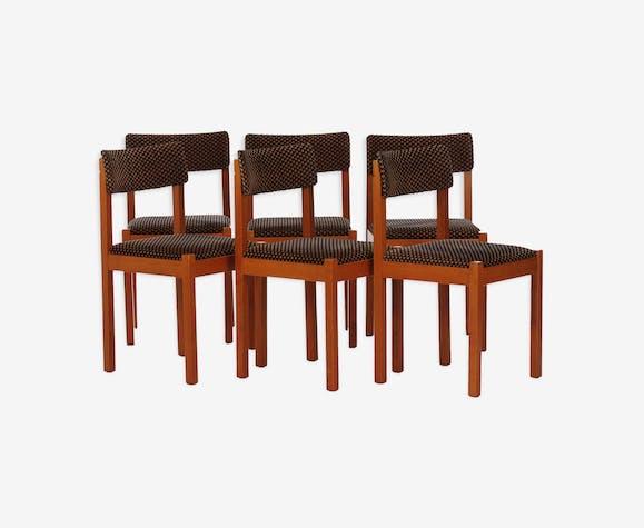 6 chaises Baumann vintage 1970