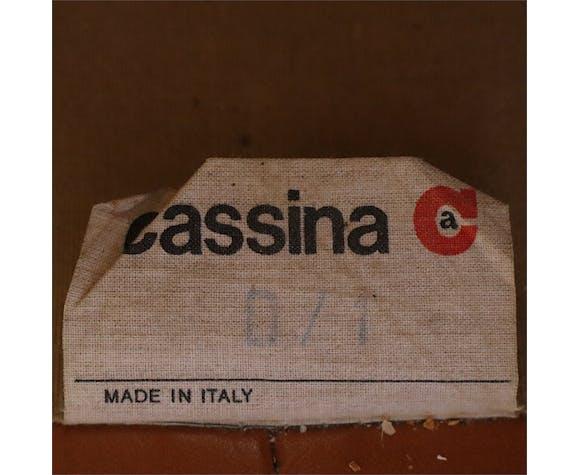 Canapé en cuir par Vico Magistretti pour Cassina