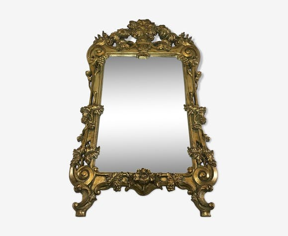Rococo style wall mirror 1970s 86x153cm