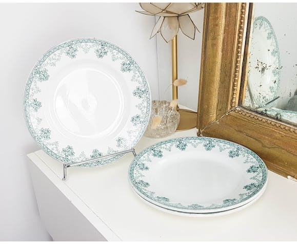 "Lot of 3 plates St AMAND ""CAHORS"" green white"