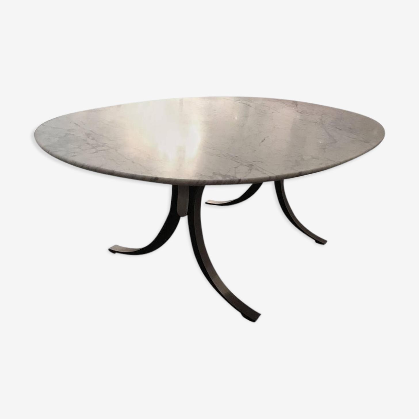 Table de salle à manger Osvaldo Borsani avec plateau original en marbre de cararre tecno 1960