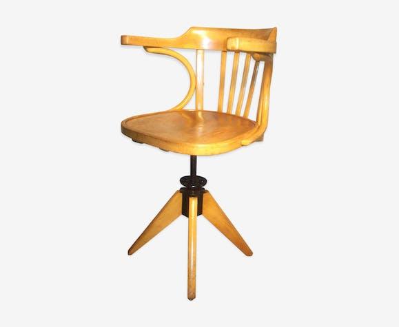 chaise américaine baumann - bois (matériau) - beige - vintage - eurcgww
