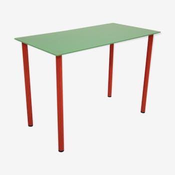 Table d'appoint vintage années 80 design minimaliste