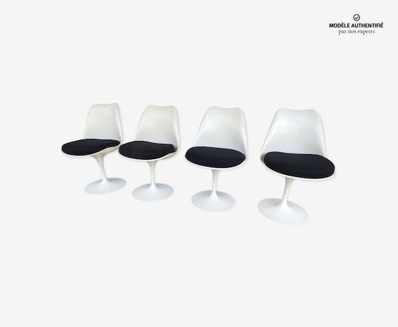 lot de 4 chaises tulipe knoll eero saarinen fibre de. Black Bedroom Furniture Sets. Home Design Ideas
