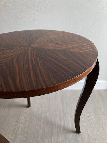Table low art deco round tripod