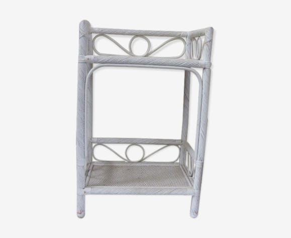 meuble en rotin blanc 1970 rotin et osier blanc vintage 09dutjh. Black Bedroom Furniture Sets. Home Design Ideas