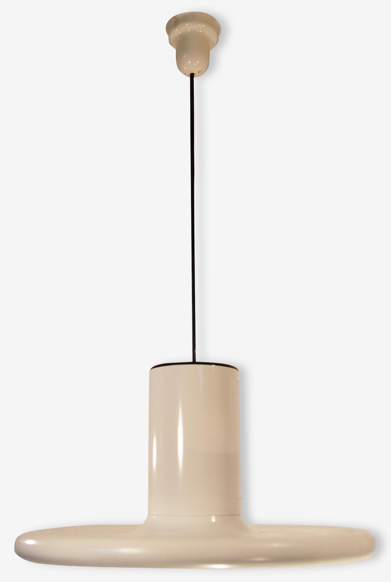 "Suspension Lustre X3 50cm LITA Mid Century Blanc Fog Morup Industriel Emaille Pendant Hanging Ceiling Light x3 Small 19"" White Industrial"