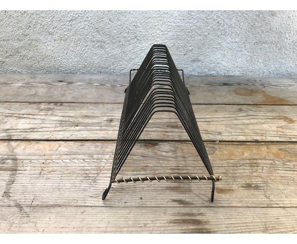 Porte vinyls métal noir