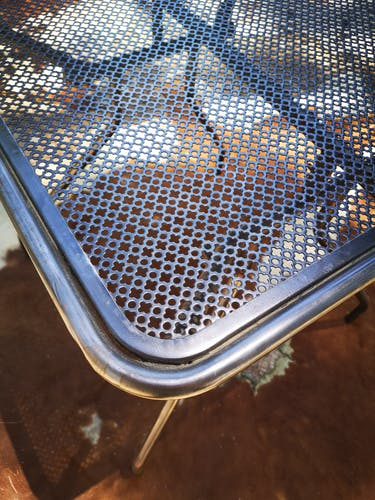 Table vintage décapée 1950