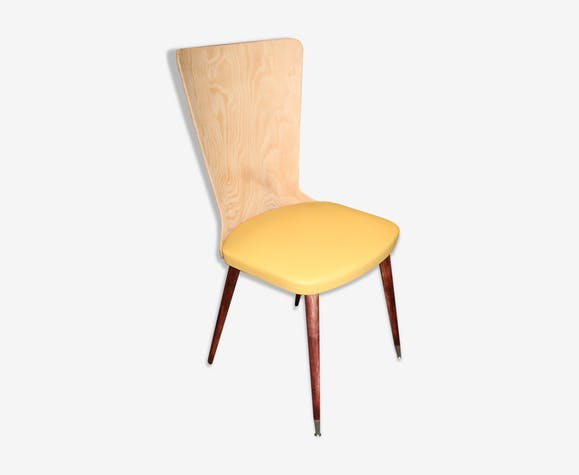 Chaise vintage jaune