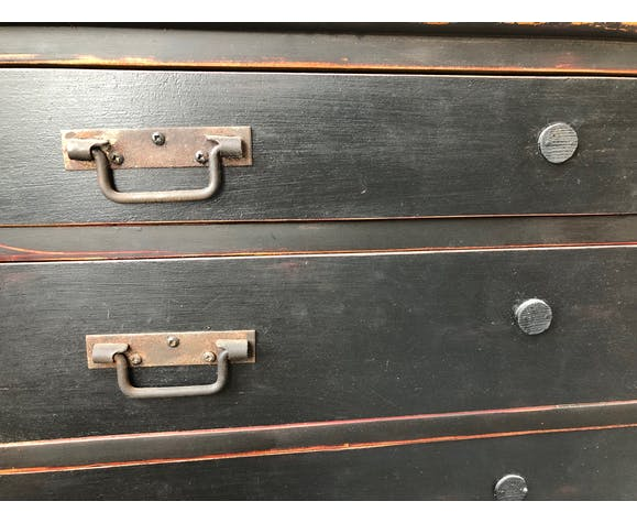 Dresser 4 patinated drawers